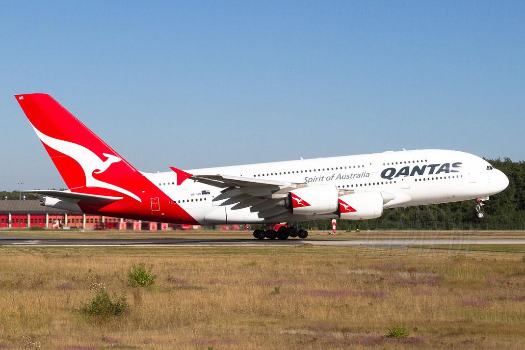 VH-OQB Qantas Airbus A380 2012 09 08 EDDF Frankfurt Startbahn West 18 Affenfelsen Holidayparkplatz Sonntagsausflug Icecream