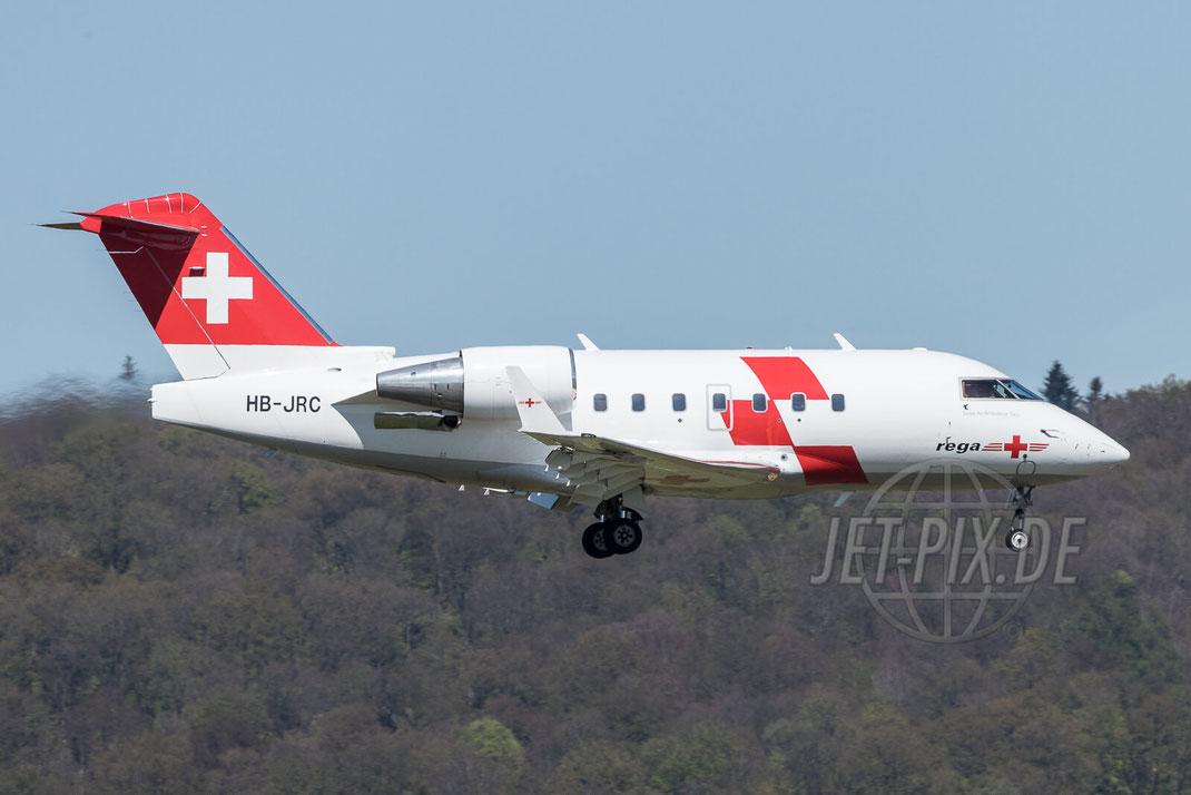 HB-JRC Swiss Air-Ambulance Canadair CL-600 Challenger 604REGA 2017 04 30 ZRH