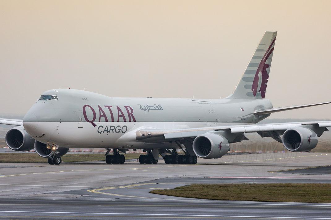 A7-BGA Qatar Airways Cargo Boeing 747-87UF 2018 01 06 EDDF Frankfurt