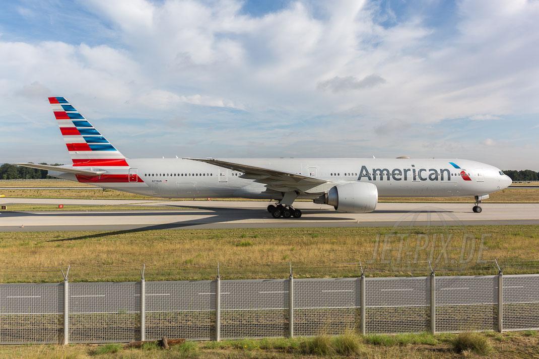 N719AN American Airlines Boeing 777-323(ER) 2017 08 02 EDDF Frankfurt