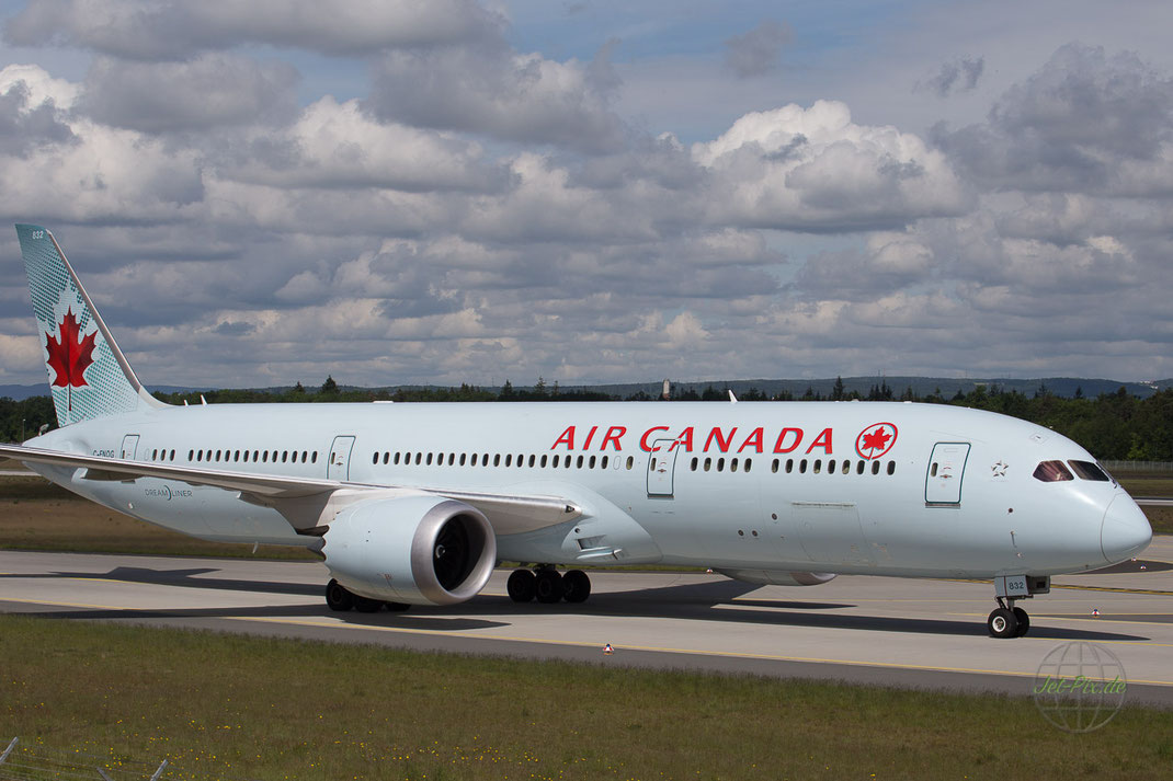 Landung Air Canada Frankfurt Nordwestbahn Dreamliner