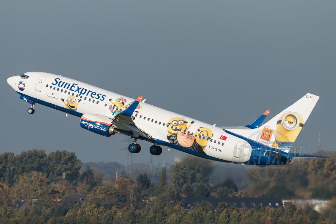 TC-SOH SunExpress Boeing 737-8HC(WL)  2017 10 14 EDDL Düsseldorf