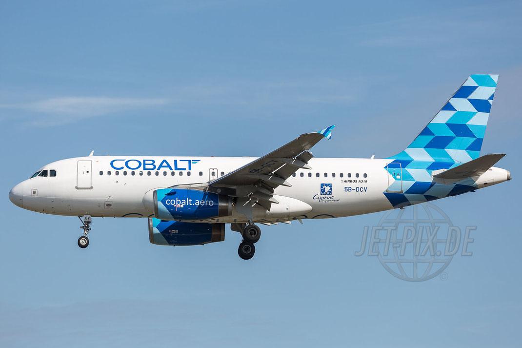 5B-DCV Cobalt Air Airbus A319-132 2017 07 29 EDDF Frankfurt