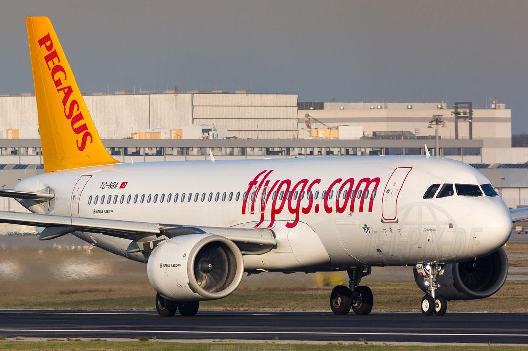 TC-NBA Pegasus Airbus A320-251N 2017 12 07 EDDF Frankfurt