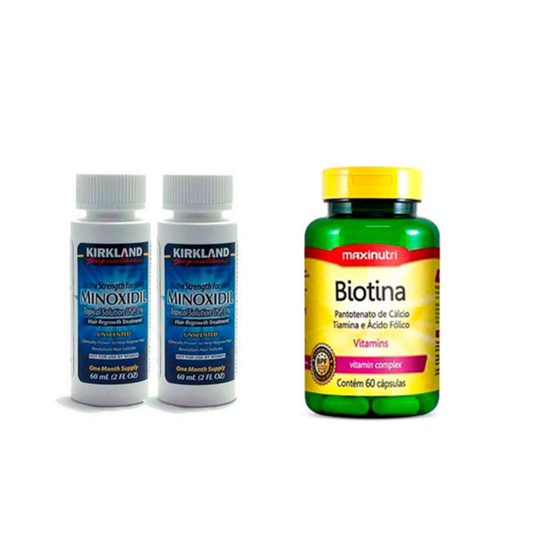 ¿Qué es mejor el minoxidil o la biotina?