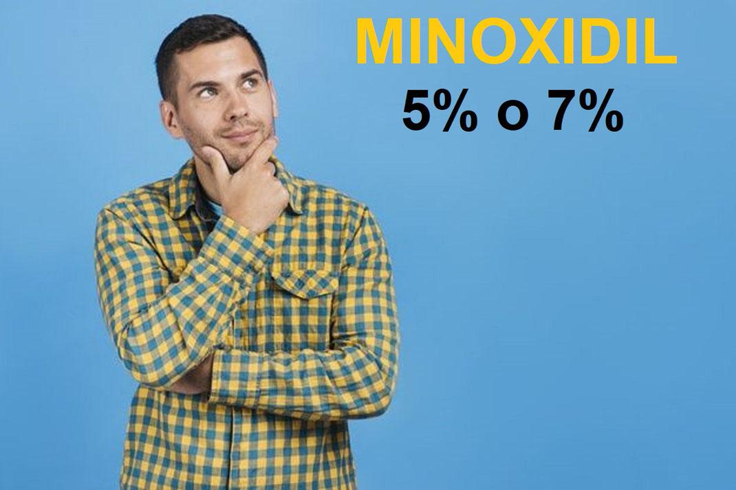 Minoxidil al 5% o al 7% ¿Cuál elegir para barba?