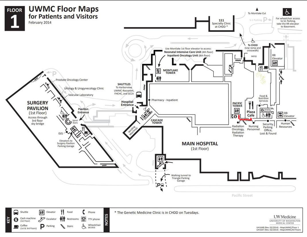 UWMC Floor Map-1st Floor