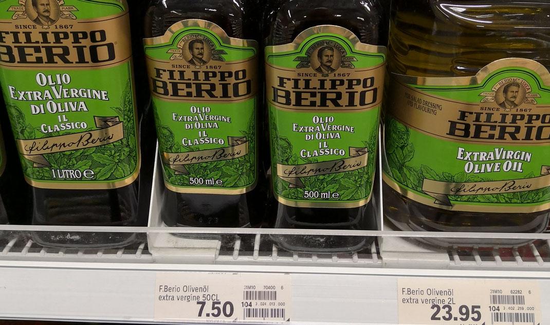 Filippo Berio, bei Coop erhältlich, gilt als eine der am meisten verkauften Olivenölmarken der Schweiz (Bild: evoo ag)