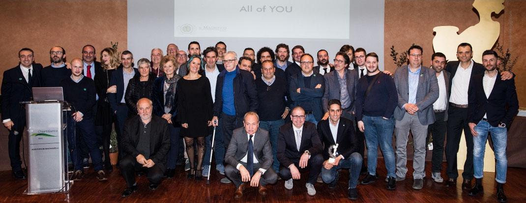 """Die Jury des Il Magnifico Awards 2018 vergab den Preis """"EVOO AMBASSADOR"""" an alle Protagonisten des Qualitätsolivenöls (Bild: zvg)"""