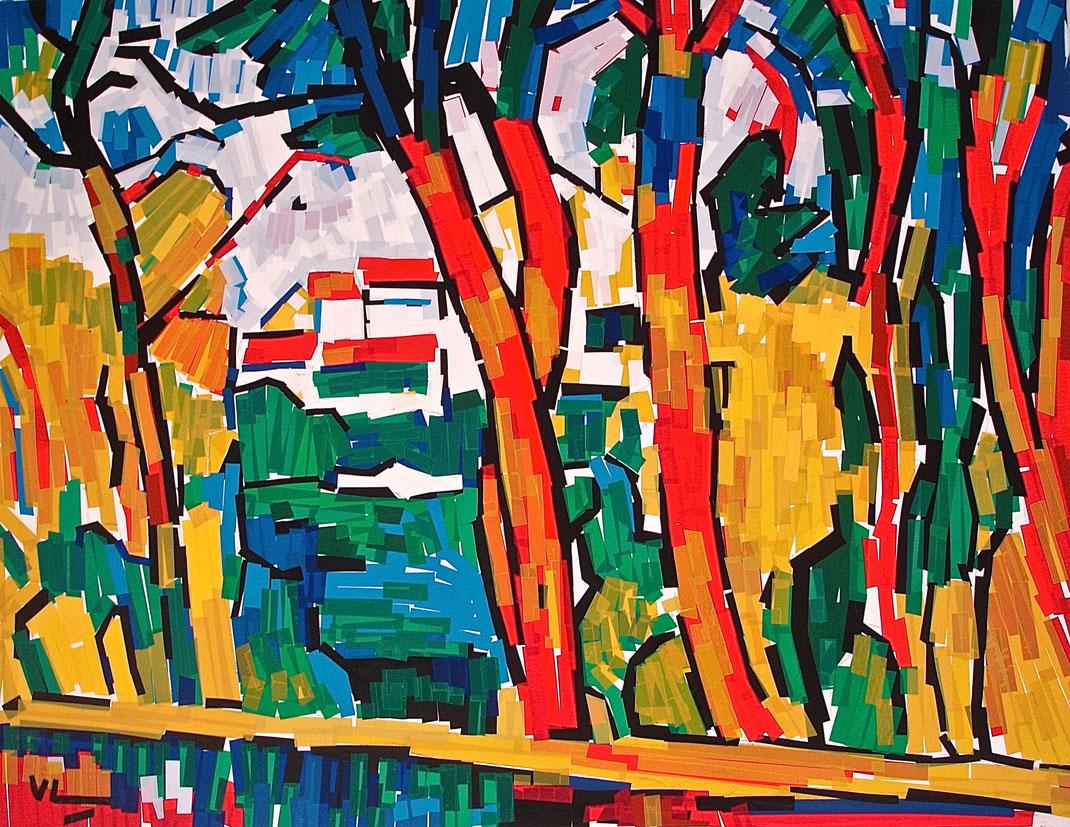"""Tableau chatterton """"Les arbres rouges"""" de Vlaminck"""