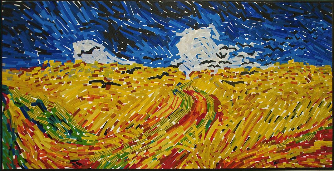 champs, blé, Van Gogh, corbeaux, scotch, chatterton, campagne