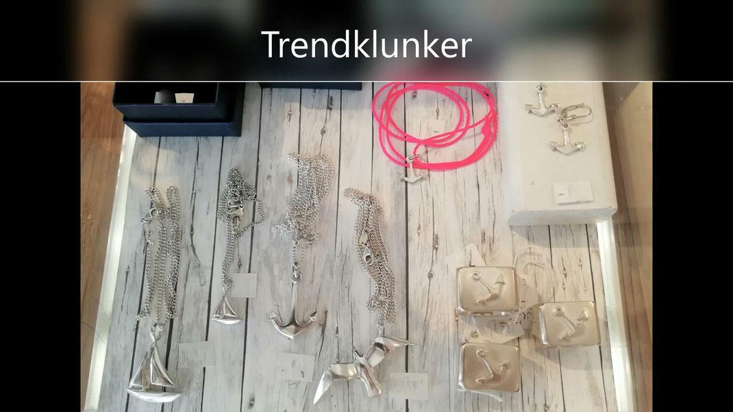 Echter Silberschmuck von der norddeutschen Manufaktur Trendklunker. Made in Hannover