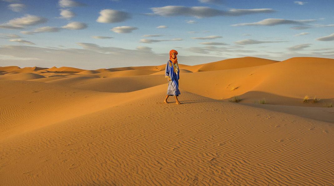 Merzouga Desert, southeastern Morocco.