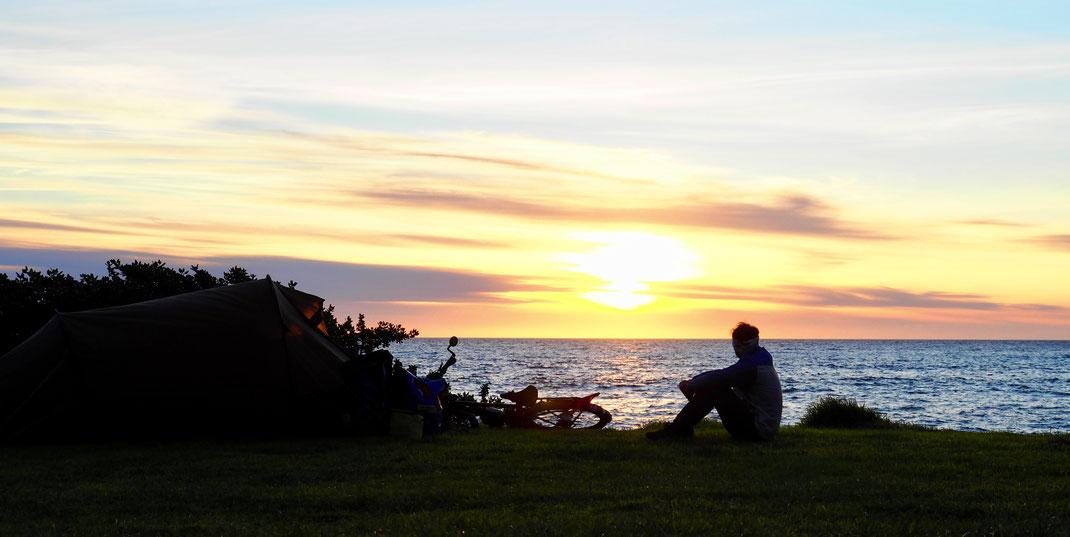 Camping bei Cape Palliser