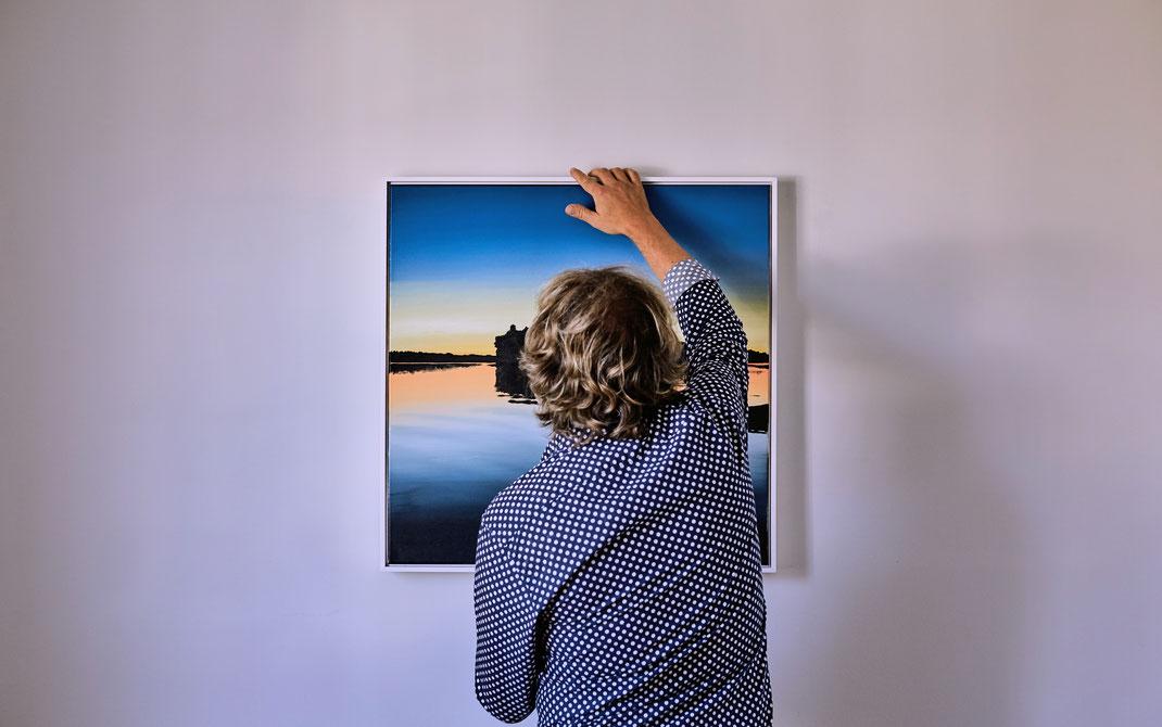 Alfred Heindl, Ausstellung 2017 in der BH-Galerie Melk (Foto: © Franz Gleiss)