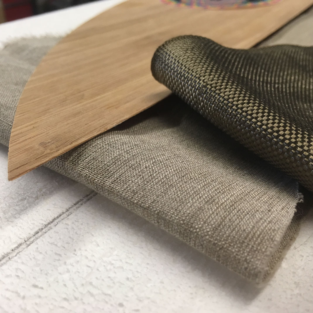 Surfbrett materialien ecoboard bio surfboard basalt flachs faser nachhaltig riversurfen münchen organisch organic recycled flax flx linen fibreriverboard rapidsurfing