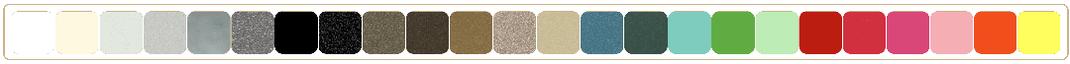Différents coloris proposés sur notre gamme d'équerres pour étagère
