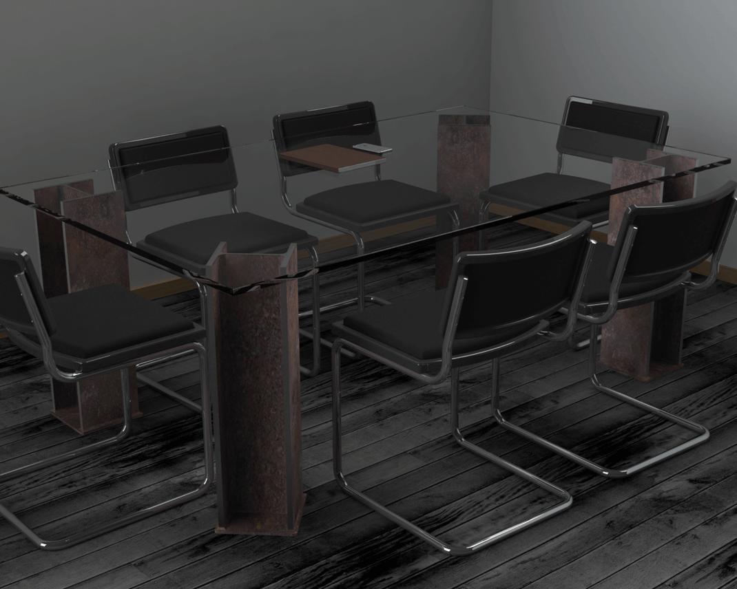 pied de table métal design aspect industriel