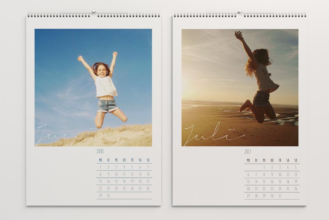 Wandkalender, persönliche Fotos und individuelles Kalendarium