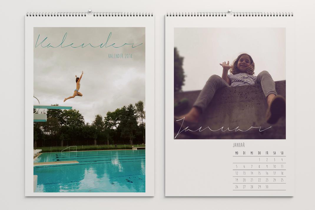 Wandkalender, persönliche Bilder und individuell gestaltetes Kalendarium