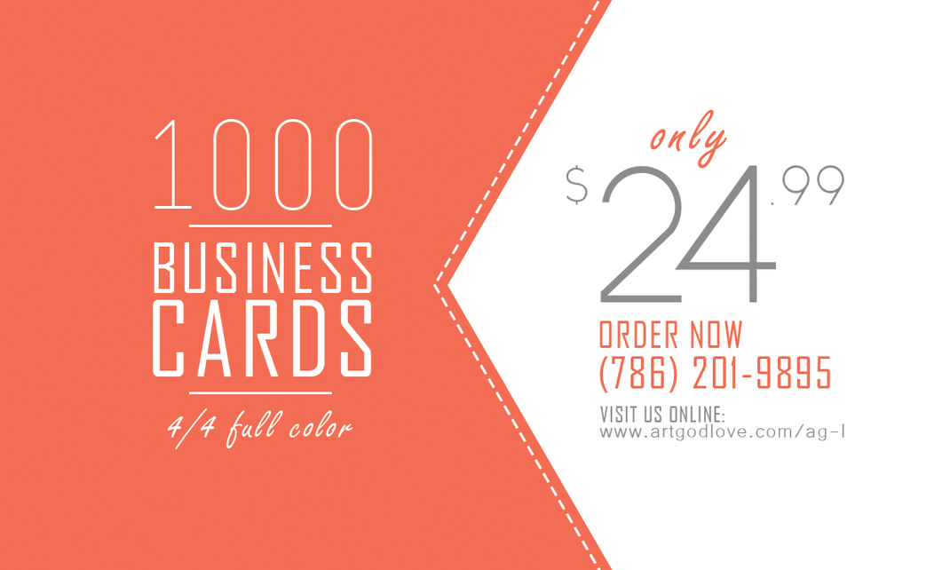 AG&L INC. Business Services. Business Cards Deal. 1000 Business Cards Offer $24.99