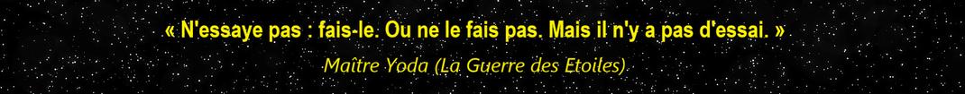 Citation de Maître Yoda (Star Wars)