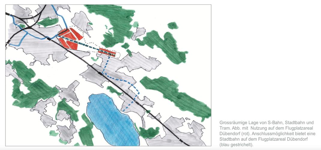 Masterplan 2050 Raum Uster-Volketswil vom 11. Januar 2013 | Quelle: Auftraggeber Kanton, Region und Gemeinden