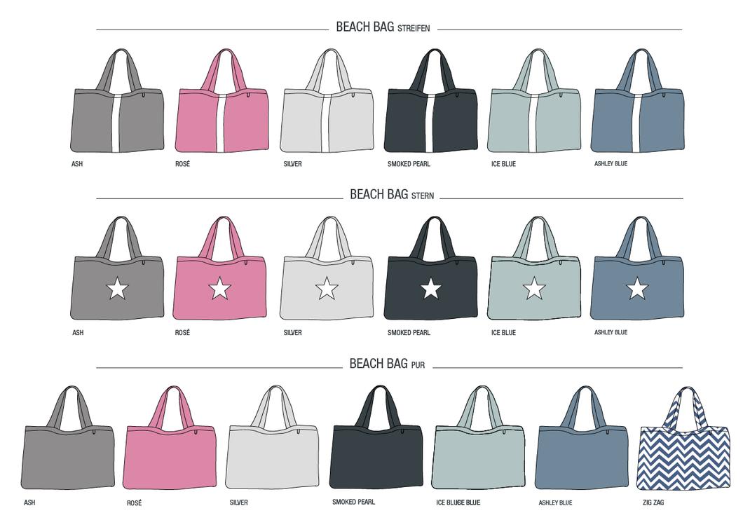Beach Bag - BYRH , Strandtasche, Sommertasche, Badetasche