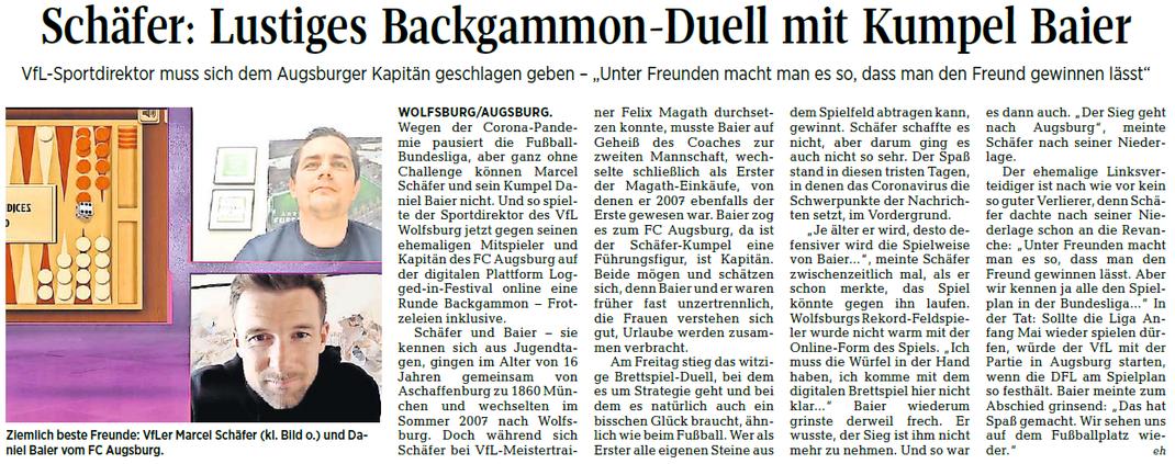 Quelle: Wolfsburger Allgemeine Zeitung vom 04.04.2020