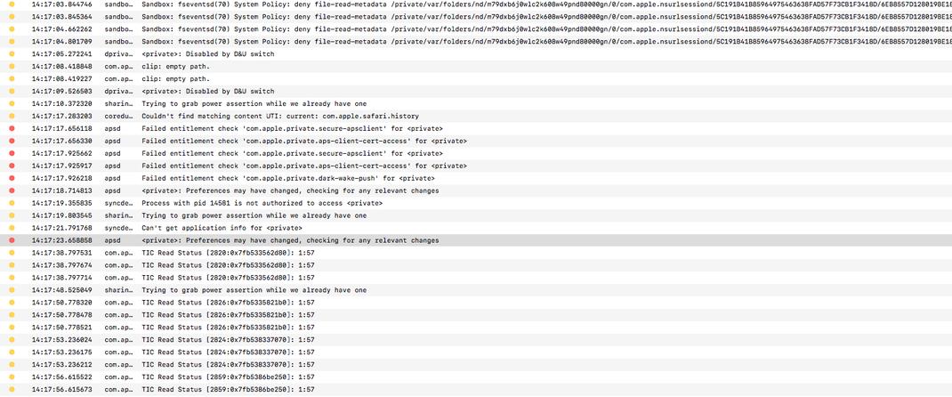 Error Logs während starker Auslastung der CPU