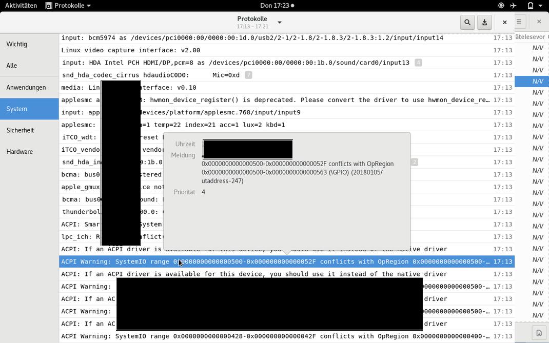 Wenn man die RAM-Block Adressen ansieht, kann man erkennen, dass es immer bei den gleichen Blocks zum Hog kommt. Wahrscheinlich liegen dort Daten die von einem fremden Prozess auch noch gebraucht werden.