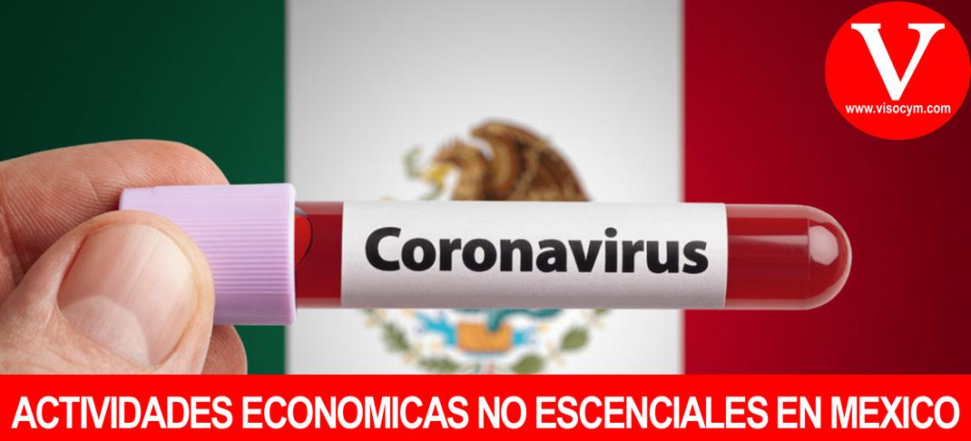 ACTIVIDADES ECONOMICAS NO ESCENCIALES EN MEXICO