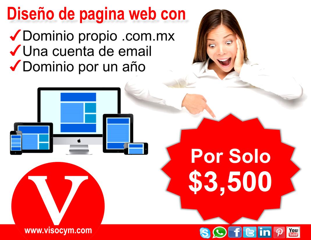 diseño de pagina web por solo 1500 pesos