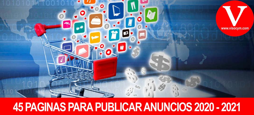 45 Paginas para publicar anuncios gratis 2020 - 2021