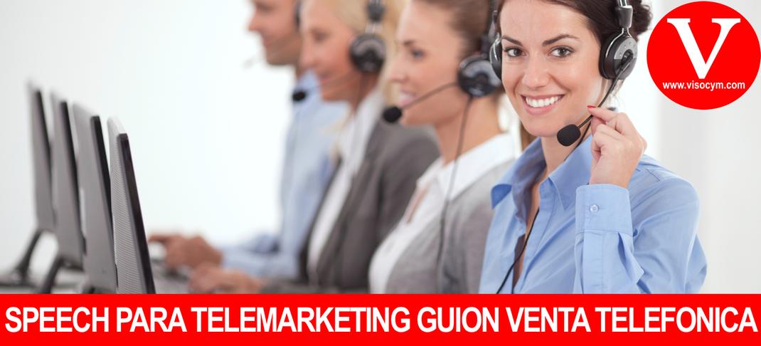 Speech de telemarketing guion de venta y prospectación telefonica