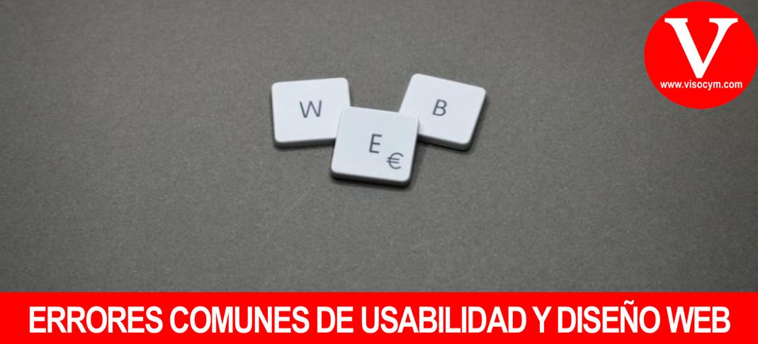 ERRORES COMUNES DE USABILIDAD Y DISEÑO WEB