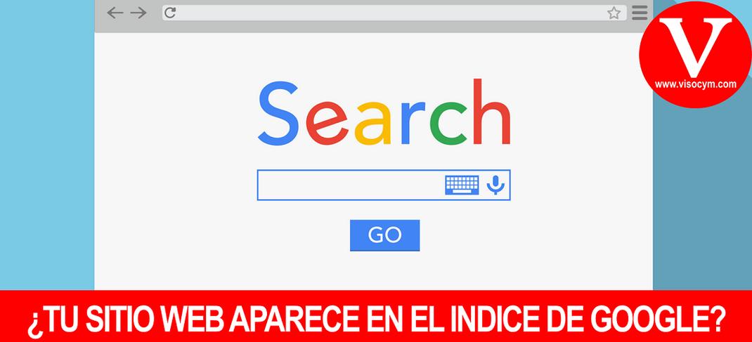 ¿TU SITIO WEB APARECE EN EL INDICE DE GOOGLE?