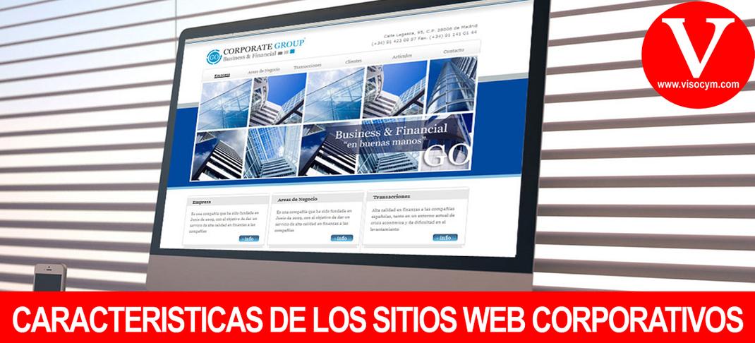 CARACTERISTICAS DE LOS SITIOS WEB CORPORATIVOS