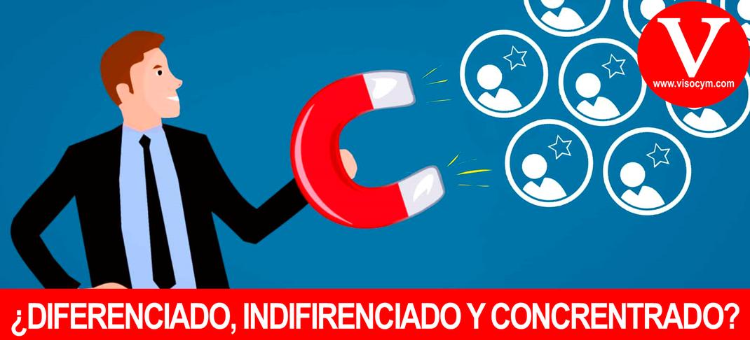 Diferencia entre Marketing Diferenciado, Indiferenciado y Concentrado