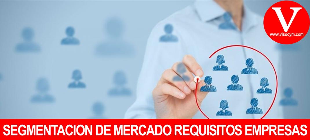Segmentación de Mercado requisitos con los que debe cumplir la empresa