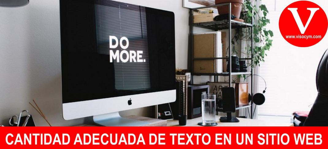 CANTIDAD ADECUADA DE TEXTO EN UN SITIO WEB