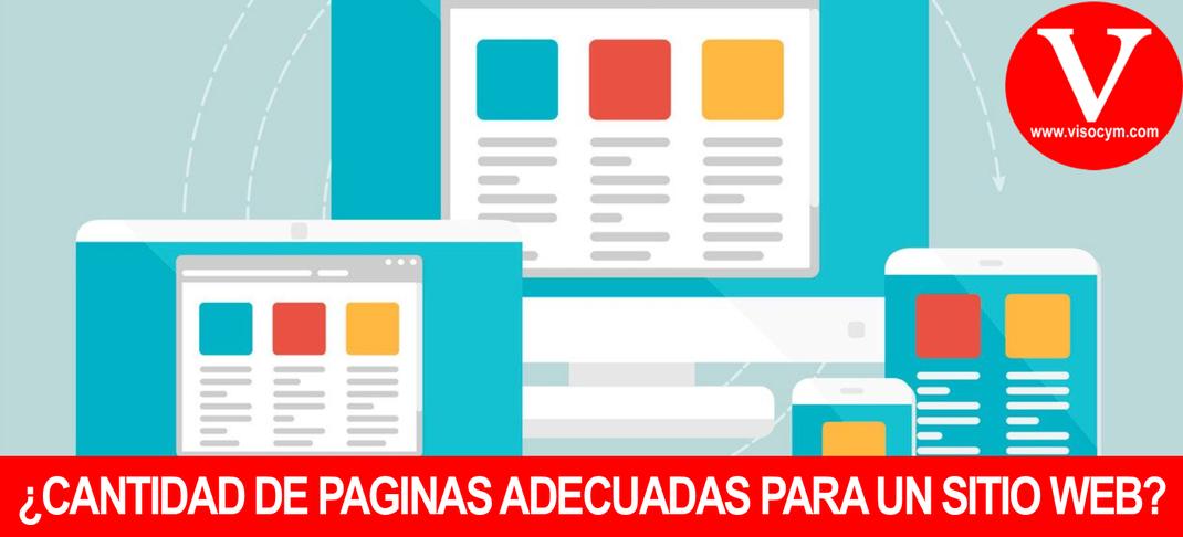 ¿CANTIDAD DE PAGINAS ADECUADAS PARA UN SITIO WEB?