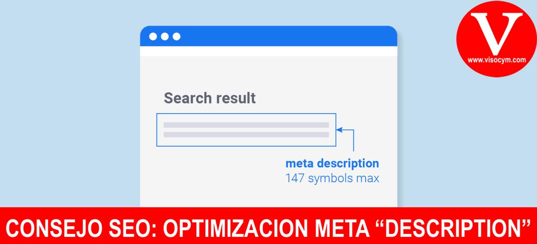 """CONSEJO SEO: OPTIMIZACION META """"DESCRIPTION"""""""