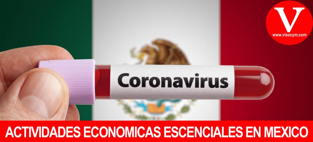ACTIVIDADES ECONOMICAS ESCENCIALES EN MEXICO