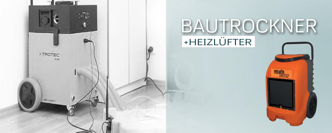 Bautrockner, Heizlüfter, Baulüfter, Luftgebläse Verleihung und Vermietung von GERZEN wand-design
