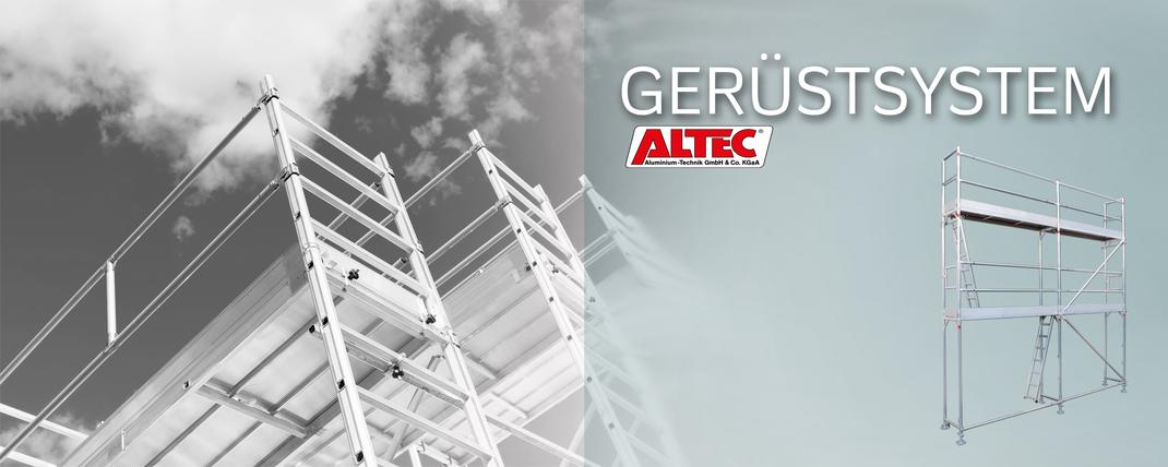 Gerüst, Gerüstsysteme, Rollgerüst ALTEC Aluspint Verleihung und Vermietung