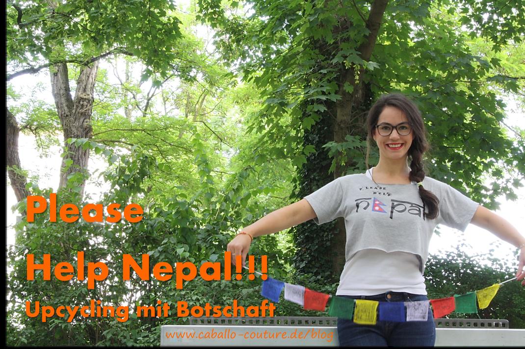 Caballo Couture; Nepal; Helft Nepal; Hilfe für Nepal; Upcycling; DIY; Upcycling Mode; Erdbeben Nepal; Round Anapurna; Anapurnarunde; Kreative Ideen; T-Shirt Upcycling