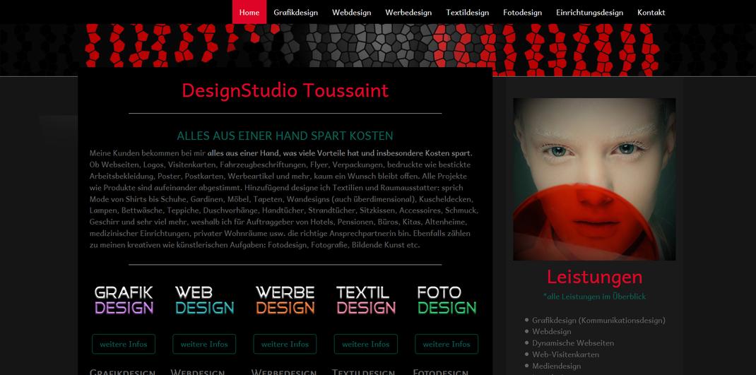QuickWebDesign - Galerie Webdesign - DesignStudio Toussaint - Design-Web-Werbung