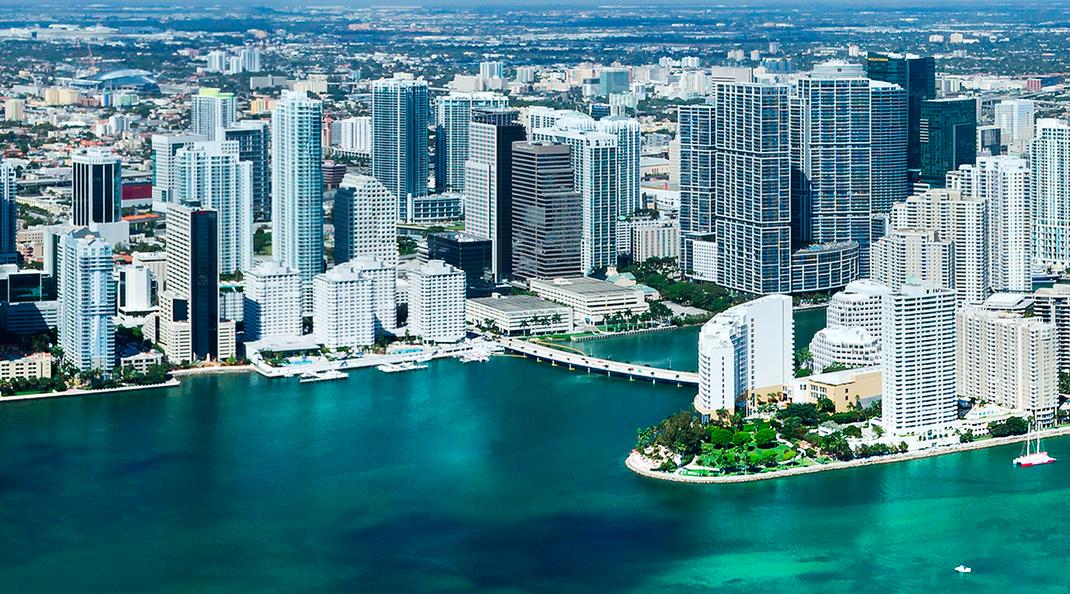 Blick auf Miami Downtown
