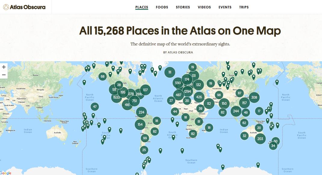 Atlas Obscura, la ressource inépuisable.